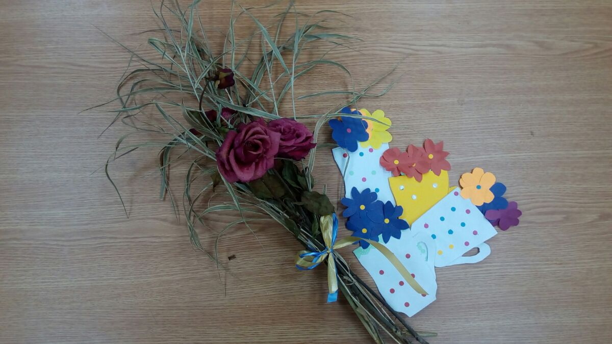 Мулине цветы вышив